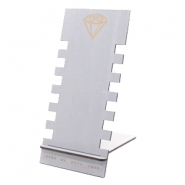 Sieraden display hout diamant Grey