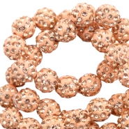 Strass kralen 8 mm Peach