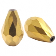 Top quality druppel facet kralen 8x11mm Gold