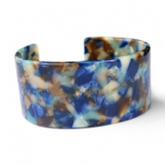 Hippe armbanden resin Blue mix