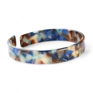 Hippe armbanden resin loose fit Blue mix