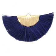 Kwastje hanger Gold-dark midnight blue
