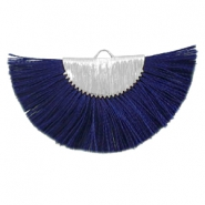 Kwastje hanger Silver-dark midnight blue