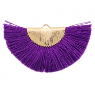Kwastje hanger Gold-purple