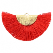 Kwastje hanger Gold-ruby red