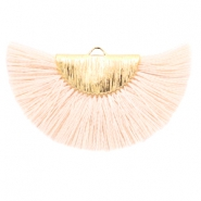 Kwastje hanger Gold-light peach