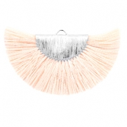 Kwastje hanger Silver-light peach