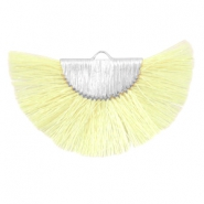 Kwastje hanger Silver-light yellow