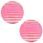 Cabochons basic 20mm stripe Pink holographic