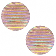 Cabochons basic 12mm stripe Champagne holographic