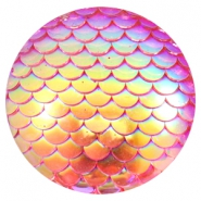 Cabochons basic 35mm mermaid Pink holographic