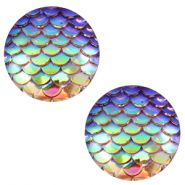 Cabochons basic 12mm mermaid Champagne holographic