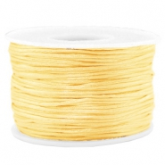 Macramé draad satijn 1.5mm Cream yellow