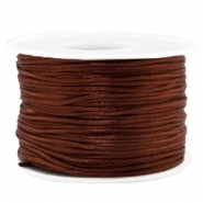 Macramé draad satijn 1.5mm Chocolate brown