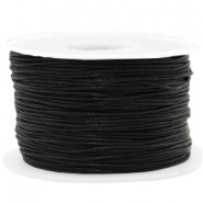 Waxkoord 1mm Black