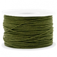 Waxkoord 1mm Army green