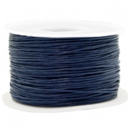Waxkoord 1mm Dark blue