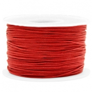 Waxkoord 1mm Warm red