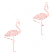 Bohemian hanger flamingo Light pink (nikkelvrij)