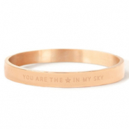 "Armbanden van Stainless steel Roestvrij staal (RVS) ""YOU ARE MY STAR IN THE SKY"" Rosé goud"