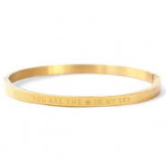 "Armbanden van Stainless steel Roestvrij staal (RVS) ""YOU ARE MY STAR IN THE SKY"" Gold"
