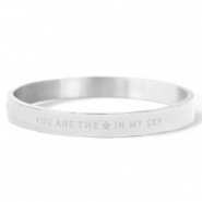 "Armbanden van Stainless steel Roestvrij staal (RVS) ""YOU ARE MY STAR IN THE SKY"" Silver"