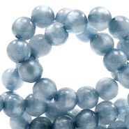 Polaris kralen 6 mm rond pearl shine Powder blue