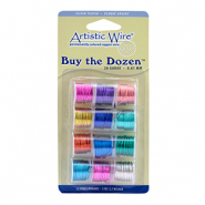 20 Gauge Artistic Wire 12-pack assorti Multicolour