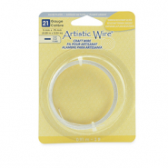 21 Gauge Artistic Wire flat Tarnish Resistant Silver