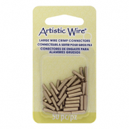 Artistic Wire crimp tubes 10mm 14 Gauge Brass Colour
