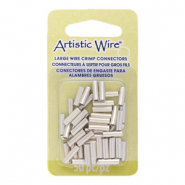 Artistic Wire crimp tubes 10mm 12 Gauge Tarnish Resistant Silver