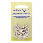 Artistic Wire crimp tubes 10mm 16 Gauge Tarnish Resistant Silver