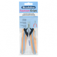 Fashion grips tangen covers tiger Beadalon Oranje-grijs