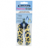 Fashion grips tangen covers cheetah Beadalon Geel-zwart