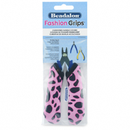 Fashion grips tangen covers cheetah Beadalon Roze-zwart