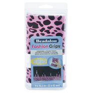 Fashion tangen etui cheetah Beadalon Roze-zwart
