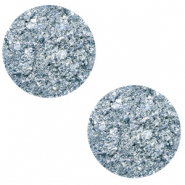 12 mm platte Polaris Elements cabochon Goldstein Powder blue