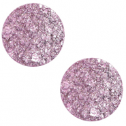 20 mm platte Polaris Elements cabochon Goldstein Iris orchid purple
