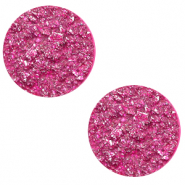 20 mm platte Polaris Elements cabochon Goldstein Magenta purple