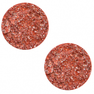 20 mm platte Polaris Elements cabochon Goldstein Tigerlily coral pink
