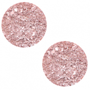 20 mm platte Polaris Elements cabochon Goldstein Cloud coral pink