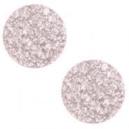 12 mm platte Polaris Elements cabochon Goldstein Delicacy pink