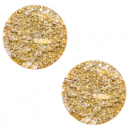 20 mm platte Polaris Elements cabochon Goldstein Mineral yellow