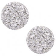 20 mm platte Polaris Elements cabochon Goldstein Daisy white