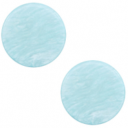 12 mm platte Polaris Elements cabochon Lively Sky blue