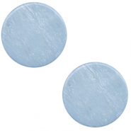 12 mm platte Polaris Elements cabochon Lively Powder blue