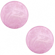 20 mm platte Polaris Elements cabochon Lively Iris orchid purple
