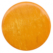 35 mm platte Polaris Elements cabochon Lively Caramel yellow