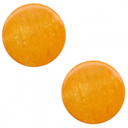 12 mm platte Polaris Elements cabochon Lively Caramel yellow