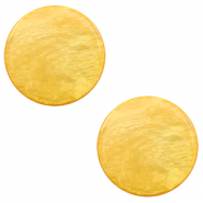20 mm platte Polaris Elements cabochon Lively Mineral yellow